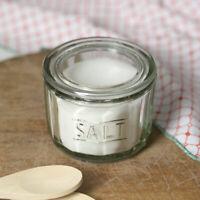 Salt Cellar Vintage Style Pressed Glass Crock Pig Farmhouse Kitchen Lidded Jar