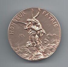 Art Nouveau Honneur Patrie Fame Carrying Warrior 1886 Bronze Medal by DUBOIS M46