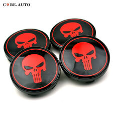 4× 61mm/ 56mm Skull Punisher Wheel Center Caps Emblem For Alutec Wheel