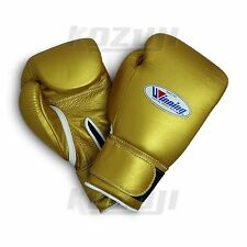 Winning Pro Boxing Gloves MS-400-B Gold, 12oz VeIcro Design, New from Japan