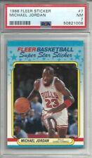 1988 FLEER STICKER BASKETBALL #7 Michael Jordan PSA 7 NM