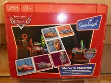 Disney Car Lightning Mcqueen Mater's Matches Supercharged M&S Dominoes Card Game