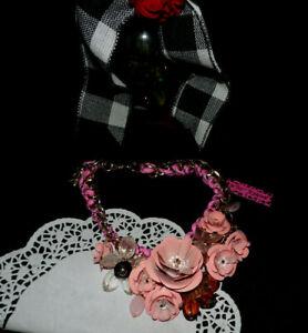 "Betsey Johnson~ Beautiful Flower Statement Necklace 16""w/3"" extender New~ MM #12"