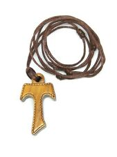 Olive Wood Tau Cross- Olive Wood with Cord - St Francis