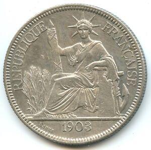 Indochina Piastre Of Commerce 1903 Paris Km 5a.1