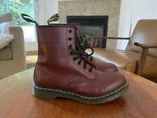 Doc Martens 1460W Women's Smooth Leather 8 Eyelet Boots US Size 11 Maroon