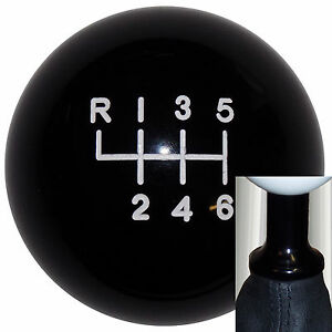 Black -L 6 speed shift knob kit fits non-threaded VW Audi bk