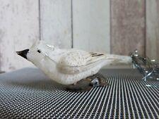 ancienne déco de noël oiseau en verre