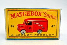 """Matchbox 47A Trojan Van extrem rare leere originale """"D"""" Box"""