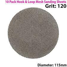 10x 120 Grain de carbure de silicium Maille 115 mm round ponçage disque – Hook & Loop Backing