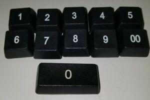 PrehKeyTec Numeric Black KeyTop, 1, 2, 3, 4, 5, 6, 7, 8, 9, 00, double width 0