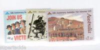 1991 Australia Sc #1207 1208 1209  MNH ** VF 50th Anniversary of WWII Memorial