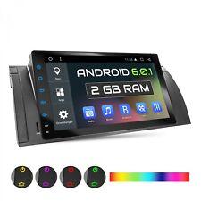 """9"""" AUTORADIO CON ANDROID 6.0.1 2GB ADECUADO PARA BMW E39 GPS NAVI USB WiFi DAB+"""