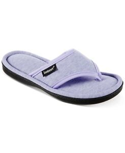Isotoner Signature Women's Jersey Cambell Thong Slippers Periwinkle
