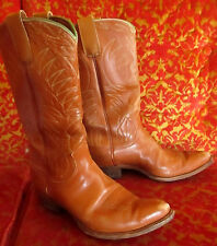 8.5 B 8.5B TRUE VTG 60s Men's Original Justin ft worth Texas Needle Cowboy BOOTS