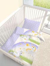 Unicorn Einhorn Baby Bettwäsche-Set 100x135 + 40/60 cm 100% Baumwolle
