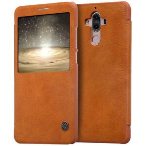 For Huawei Mate 9 Slim Smart Wake up/Sleep Window View Leather Shockproof Case
