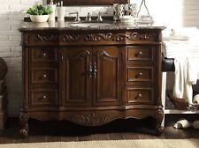 "42"" Baltic Brown Granite Antique Beckham Bathroom Vanity Cabinet SW-3882SB-TK-42"