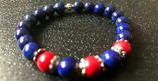 Lapis Lazuli Gemstone Bracelet for Psychic Protection & Spiritual Awareness Yoga