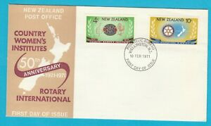 NZ New Zealand Country Women's Institutes & Rotary International FDC 1971