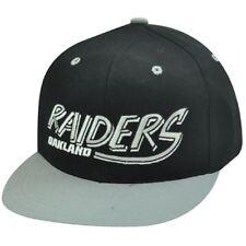 NFL Oakland Raiders Nero Old School Cappellino con Visiera Cappello 1e9e7ceefe27