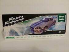 Brian's 1999 Nissan Skyline R34 GTR Fast and the Furious Artisan Greenlight 1/18