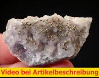 6112 Fluorite Pyrite 5*3*2 cm Grube Hermine 1980 Wölsendorf Bavaria BRD  VIDEO