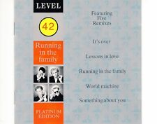 CD LEVEL 42	running in the family - 5 remixes	EX GERMAN 1987 (B0811)