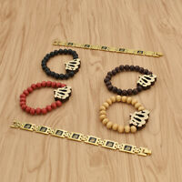 Vintage Muslim Islam Allah Bracelet Beads Decor Women Charms Jewelry Gift 1 Pc