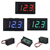 HK- 2-Wire Mini DC 5-30V Voltmeter LED Panel 3-Digital Display Voltage Meter Che