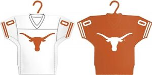 TEXAS LONGHORNS HOME AND AWAY 2PK JERSEY ORNAMENT SET NFL BRAND NEW