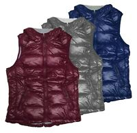 New Tangerine WoMen's Full-Zip Insulated Packable Lightweight Puffer Hooded Vest