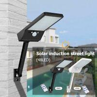 48 LED Solar Light IP65 PIR Motion Sensor Wall Street Lamp for Patio Path Garden