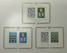 1980 United Nations 35th Year Souvenir Sheet Set MNH NY 324 Geneva 95 Vienna 14