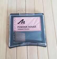 Manhattan Powder Rouge Tender Touch Blusher Compact with Brush Fresh Peach 53N