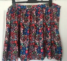 ASOS FLORAL JERSEY SUMMER HOLIDAY SKATER SKIRT SIZE 22 PLUS SIZE ♡♡♡