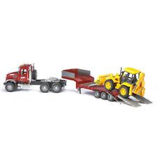 Bruder 95cm 1:16 MACK Truck Granite Loader w/JCB 4CX Tractor Backhoe Kids Toy