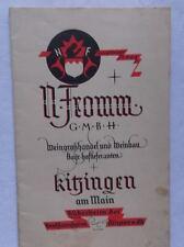 Weingrosshandel und Weinbau Prospekt mit Preisangaben v. 1926 in Reichsmark /S47