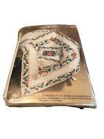 "Primavera 45"" x45"" lap quilt wall hanging stamped cross stitch Bucilla kit 40664"