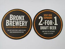 Beer Coaster >< BRONX Brewery ~ New York City ** Add'l Coasters Only $0.25 S&H