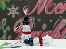 **SNOWMAN HOLIDAY EARRINGS MADE WITH SWAROVSKI CRYSTALS AND STERLING SILVER**
