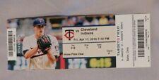 Minnesota Twins Vs Cleveland Indians 4/17/15 Ticket Stub