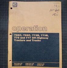 Caterpillar 768C 769C 772B 773B 776 777 Truck Operation Manual OWNER operator