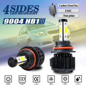 4-Side 9004 HB1 LED Headlight Bulb Kit Hi Low Beam Lamp 6000K Light 32000LM 120W
