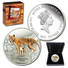 AUSTRALIA  2011  Endangered & Extinct - TASMANIAN TIGER 1OZ Silver Proof Coin