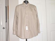 DAMON Easy Care Men's Tan NEW 16.5 X 34/35 New Dress Shirt Cotton Blend