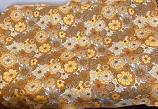More details for vintage but brand new yellow orange flower power st micheal m & s curtains