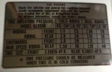 SUZUKI GS850 GS850G TYRE CAUTION WARNING DECAL LABEL