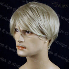 Wiwigs Classic Handsome Bangs Layered Blonde Mix Men's Full Wig