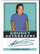 2018 Upper Deck Goodwin Diamond Dealer Autograph AMANDA NUNES #CDD-AN Goudey SP